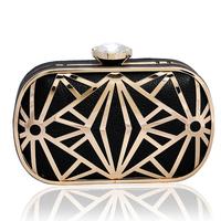2014 New Women's leather handbag Ladies crystal wedding bag women's party clutch purse evening bag Gift