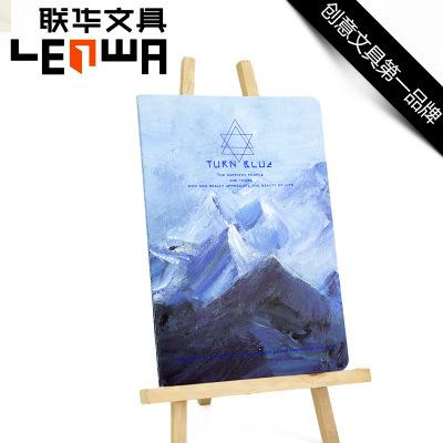 LENWA True Blue Series Korea Creative Notebook Notepad Student Stationery A5 Sketchbook School Supplies Stationery Cute Kawaii(China (Mainland))