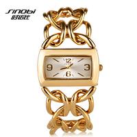 New! 3color Brand SINOBI Luxury Women Golden Watches Full Steel Analog Quartz Business Watches Women Fashion Clock Hours
