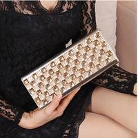 Fashion diamond rhinestone clutch handbags handbag with diamond dinner will be portable shoulder diagonal chain bags