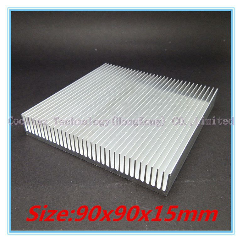 High quality  90x90x15mm radiator Aluminum heatsink Extruded  heat sink for 20-50W LED, Electronic heat dissipation(China (Mainland))