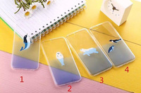 1* Case For iPhone 5 5S Japan Ocean Series Polar Bears Dolphins Sea Lions Transparent Ultrathin 0.3mm  Clear Silicone TPU Covers
