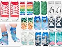 Fashion 3D Digital Printed Unisex Cute Low Cut Ankle Socks women socks Calcetines Women Casual Harajuku Meias Mujer Socks