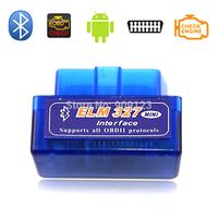 3 Year Warranty Mini ELM327 Bluetooth V2.1 Interface Works On Android Torque Bluetooth OBD2 OBD II Car Diagnostic Scanner B02