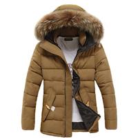 Free shipping men down coat Men's coat Winter overcoat Outwear Winter jacket hooded thick fur outerwear outdoor