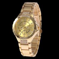 Hot Sale SHIKAI Women/Men Analog Crystal Hours for Women's Rhinestones Watch Fashion Dress Watch Stainless Steel Watches