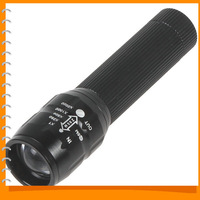 ZY-516 Black 0.3W 60LM Zoomable Mini LED Flashlight Torch Zoom AA Portable LED Flash Light Lamp with 3 Modes