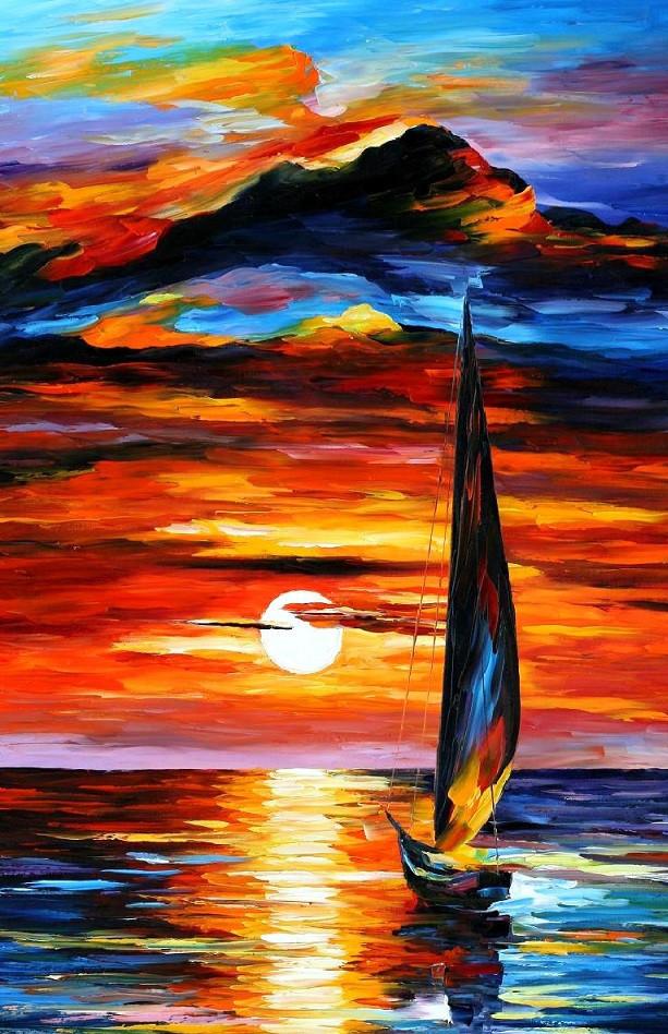 Sailing Boat Sunrise Sunrise And Sailing Boat