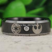 Free Shipping USA UK Canada Russia Brazil Hot Sales 8MM Star Wars Imperial Empire Rebel Alliance Jedi Mens Tungsten Wedding Ring