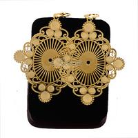1pair Womens Ladies 18k Yellow Gold Filled Drop Earriings Fashion Big Statement Earrings