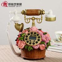 Rustic antique telephone fashion vintage fashion flower basket