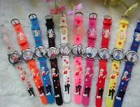 Free Shipping Wholesales fashion Cute fashion frozen watch 3D Cartoon kids Children 3D Watch fashion wristwatch