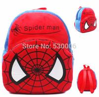 Cute Cartoon Spiderman Baby Boys Mini Soft Plush Backpack Kids Children School Bags mochila infantil menino/ mochilas escolares