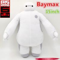 2015 New arrive 15'' Inch Big Hero 6 Baymax Stuffed Plush Dolls High Quality Cartoon Doll For Gift Free Shipping