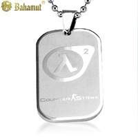 Bahamut titanium steel jewelry The Counter-Strike Half-Life military card Pendants Men's Necklace Free shipping
