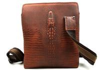 Crazy Horse Genuine Leather Men Messenger Bags Business Single Shoulder Bags  First Layer Cowhide Crocodile Vintage Men Bag B666