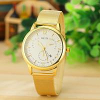 3 Colors Watch Women Golden Watch With Calendar Women Dress Watch Gold Band WEITE Watch Ladies Quarzt Watch AW-SB-1187