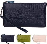 2015 New Women Genuine Leather Day Clutches Wristlets Desigual Women Handbag Alligator Coin Purse Evening Bags Women Wallet S71