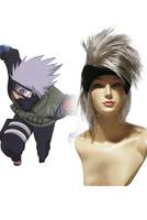 Silver Naruto Hatake Kakashi Nylon Short Straight Cosplay Wig Anime Wig