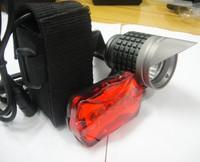 Free Shipping Cheap 4500 Lumens 3x CREE XML XM-L T6 LED Bicycle Bike HeadLamp HeadLight Rechargeable 6400mAh Battery Rear light