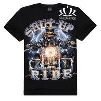 2014 New Top-Quality Designer Famous Brand 3d Printed T Shirt S-XXL Cotton Shut Up Causul T-Shirt E41 Free Shipping