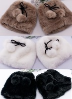 2014 WINTER FASHION SHOES ANKLE BOOTS TOPPER COVER FAUX FUR W/ FURRY SHOESTRING BALL LEG WARMERS WOMEN TRENDY SHOW PARTY