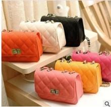 Fashion Quilted Women Messenger bags Small Crossbody chain bag woman handbag 9 colors(China (Mainland))