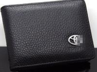 Leather License Bag wallet purse for Toyota RAV4 Corolla Camry Reiz Prado Highlander crown leather Car Logo