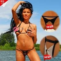 2014 Sexy Micro Bikini Mini Swimwear Tiny Swimsuitr Women Extreme See Through Bras Suits 4 models Free Shipping String Bikinis