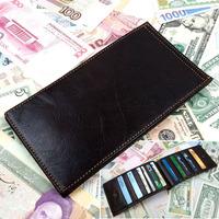 New Fashion men&women's genuine leather business card holder 18 slots card case bank credit card holder ID card bag wallet