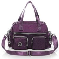 2015 casual water washed nylon women's messenger bag small handbag muti-pockets 5 color combination good quality B268