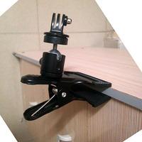 GoPro Accessories Super Clamp Mount Holder With Mini Tripod Ball Head for SJ4000 Gopro Hero 4 3+ 3 Black Mini Camcorder