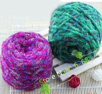 knitting wool crochet yarn Colorful coral down line Lines to towel shag yarn for knitting wool yarn Beautiful super soft  line