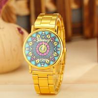 10 Different Styles Golden Steel Case Watch Geneva Watch Women Dress Watch Quarzt Watch AW-SB-1193