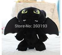 Free shipping 50cm How to train your dragon No teeth young night fury No teeth plush toy dragon