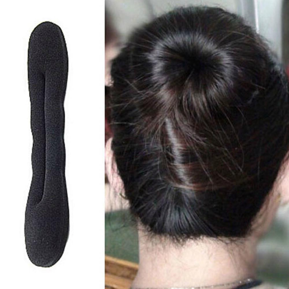 Simple fashion hair bands Magic Foam Sponge Hair Plate Donut Bun Maker Former Twist Tool Styling