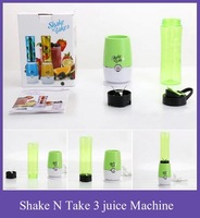 Free Shipping  Brand New Juice Machine Extractor Multifunctional Mini Electricity Pocket Sports Bottle Blender Shake n Take 3