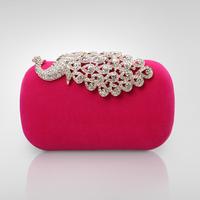 High quality Women's Luxury Diamond Velvet Evening Bags Ladies Fashion Wedding Bag Party Club Clutch Purse Chain Bag Best Gift