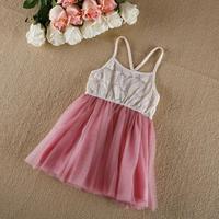 2014 summer sundresses lace dress hot children Korean  of original children's wear boutique party lace dress 5pcs/lot