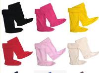 Free shipping Women and Men Long Warm Socks for hunter rainboots high rain shoes welly polar fleece Winter socks Candy Color
