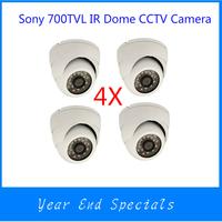 Promotion 700TVL IR Dome CCTV Security Camera 1/3 SONY 811+ Effio-E DSP 3.6mm Lens 24IR Leds Wite Case