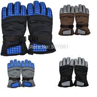 Pop British Fashion Sports Warm  Waterproof Gloves for Men Outdoor Sports Winter Ski Snowboard Snow-4Colors