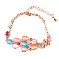 High-grade Crystal Opal Peacock Bracelets Jewelry