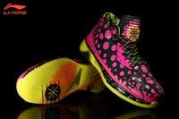 Li-Ning WoW II Way of Wade 2 Pink All Star StingRay StingWade Dwyane Wade Signature Basketball Shoes - Black/Pink/Yellow 3M