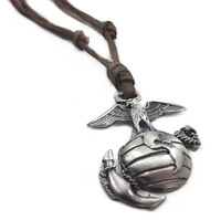 Fashion personalized leather all-match necklace vintage punk the trend of male women's necklace
