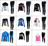 Free Shipping Pro Team Woman Cycling Winter Thermal Fleece Long Sleeve Cycling Jersey pant / Cycling Clothing / Cycling Monton