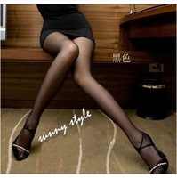 Nylon pantyhose stockings sexy summer ultra-thin solid color all-match female