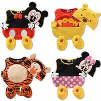 Free Shipping 12 set Cotton sleevess Kids Clothing Sets Clothes, Autumn Baby Clothes,1set= baby sock+hat+vest,Girl/Boy vest set