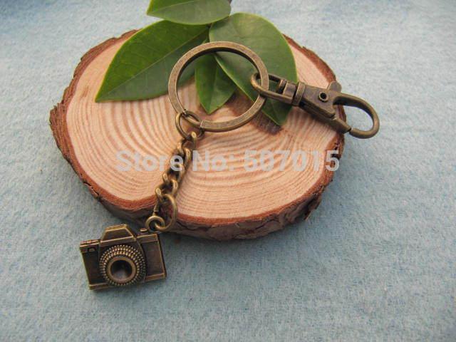 Wholesale~bronze camera key ring camera keychain bronze camera Keychain antique jewelry steampunk gift(China (Mainland))
