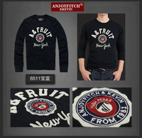 New AF Anjoy Fitch Men T-shirt Long Sleeve 100% Cotton Sport T Shirt Plus Size Clothing High Quality Street Clothes